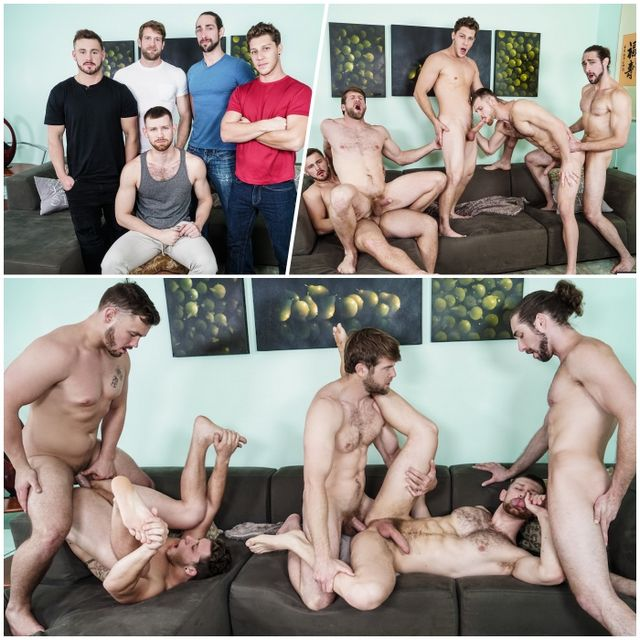 Five Stud Roommate Orgy | Daily Dudes @ Dude Dump