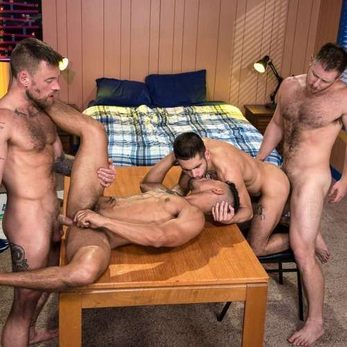 "Four Hot Guys Fuck Hard in ""Gaymers"" 