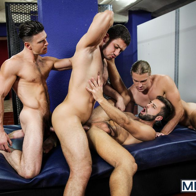 Four Muscular Guys Having Orgy | Daily Dudes @ Dude Dump