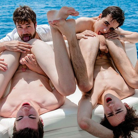 Foursome on a boat | Daily Dudes @ Dude Dump