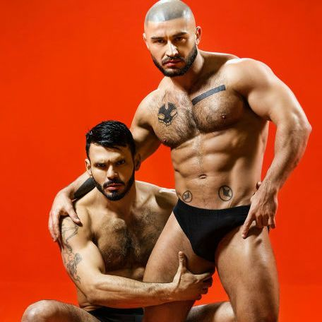 "Francois Sagat and Jean Franko in ""Sex Wish"" 