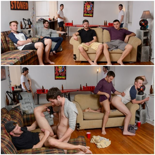 Frat-Boy Four-Way Fuck-Fest! | Daily Dudes @ Dude Dump