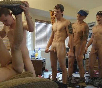 Frat Dudes Lineup For A Freshmans Tight Hole | Daily Dudes @ Dude Dump