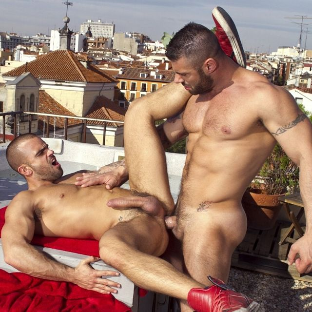 Fucking on Madrid Rooftop | Daily Dudes @ Dude Dump