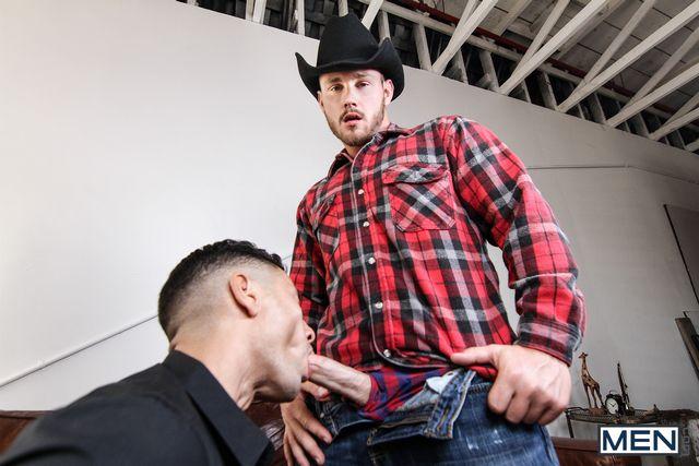 Gabriel D'Alessandro rides a hard cowboy cock | Daily Dudes @ Dude Dump