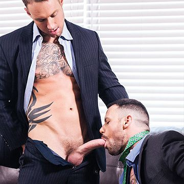 Gagging on 9-Inch Cock | Daily Dudes @ Dude Dump