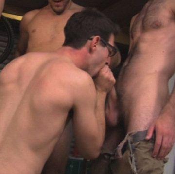 """Garage Bukkake""   Male-Erotika.com   Daily Dudes @ Dude Dump"