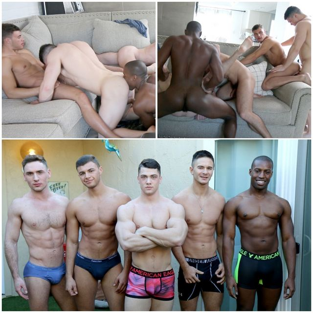 Gayhoopla Five Stud Orgy | Daily Dudes @ Dude Dump