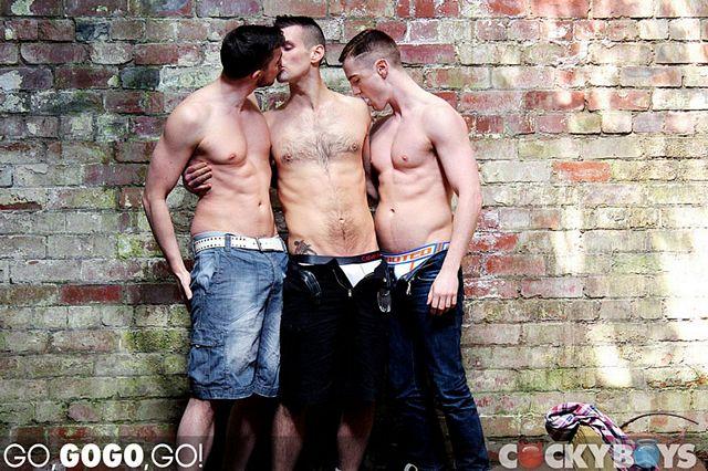 GoGo Harder Brit Boy Threesome | Daily Dudes @ Dude Dump