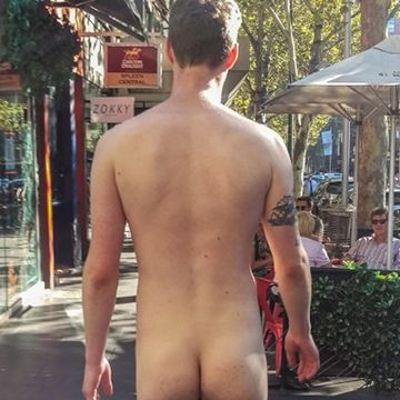 Guy walking naked in the city | Daily Dudes @ Dude Dump