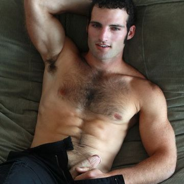 Hairy Frat Hunk Creams His Furry Ripped Six Pack | Daily Dudes @ Dude Dump