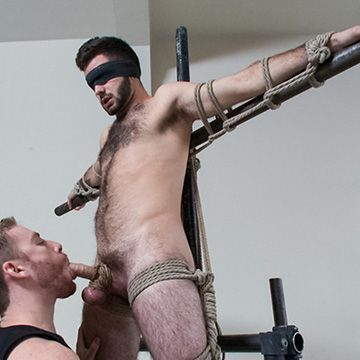 Hairy Guy's First Bondage Scene | Daily Dudes @ Dude Dump
