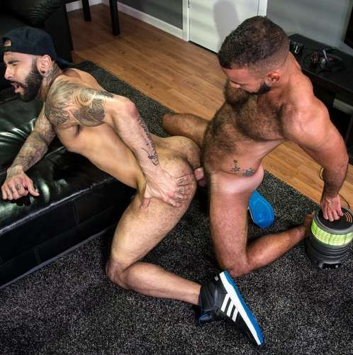 Hairy Guys Rikk York & Fernando Del Rio Flip Fuck | Daily Dudes @ Dude Dump