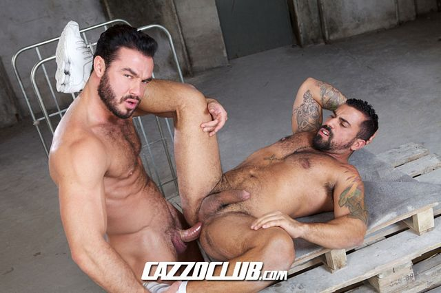 Hairy lovers Jessy Ares and Ricky Ares fuck hard | Daily Dudes @ Dude Dump