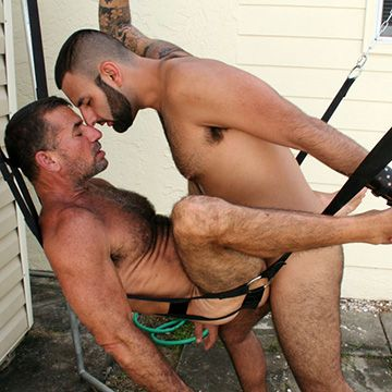 Hairy Outdoor Sling Fuckers | Daily Dudes @ Dude Dump
