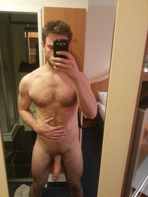 Hairy Sexy Dude Posing With His Cock | Daily Dudes @ Dude Dump