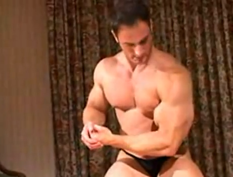 Handsome Muscle Man Flexing On Cam | Daily Dudes @ Dude Dump