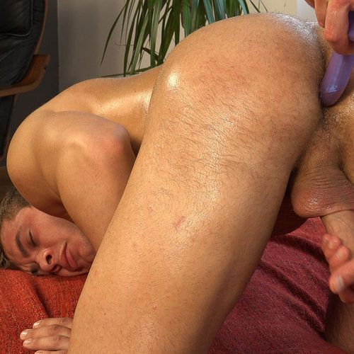 Handsome Student Gets Anus MASSAGE with Dildo   Daily Dudes @ Dude Dump