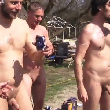Having fun naked out in the camping | Daily Dudes @ Dude Dump