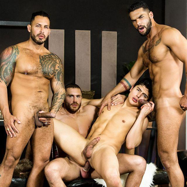 Hispanic foursome | Daily Dudes @ Dude Dump