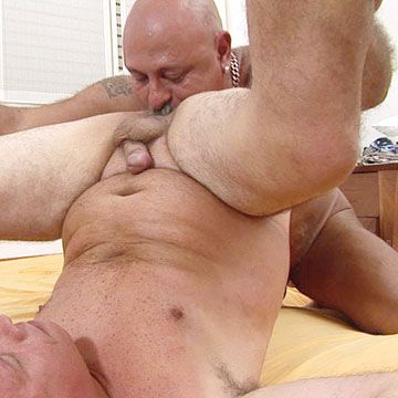 Horny old man spreads his legs | Daily Dudes @ Dude Dump
