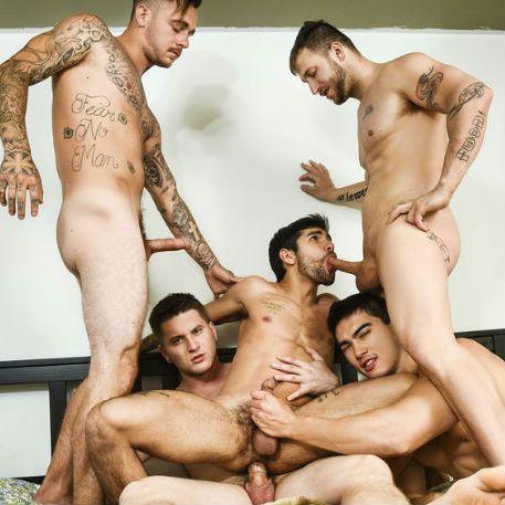 Hot 5 guy orgy | Daily Dudes @ Dude Dump