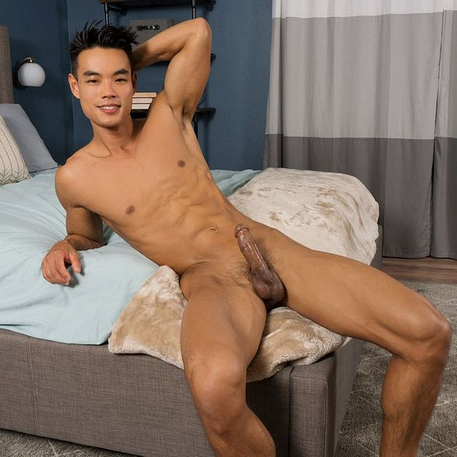 Hot Asian hunk Zac jerks off | Daily Dudes @ Dude Dump