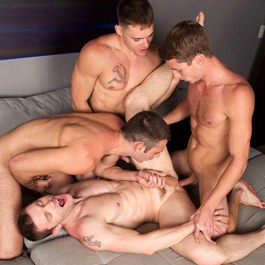Hot bareback foursome | Daily Dudes @ Dude Dump