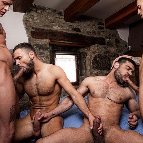 Hot bareback foursome   Daily Dudes @ Dude Dump