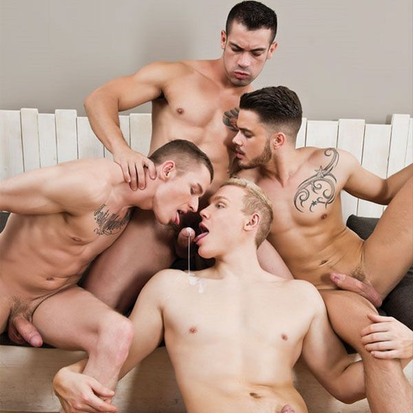 Hot bareback orgy | Daily Dudes @ Dude Dump