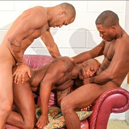 Hot ebony threesome   Daily Dudes @ Dude Dump