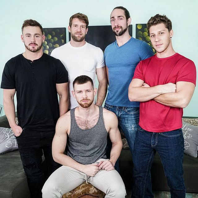 Hot five guy orgy | Daily Dudes @ Dude Dump
