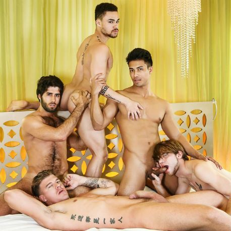Hot orgy with 5 guys | Daily Dudes @ Dude Dump