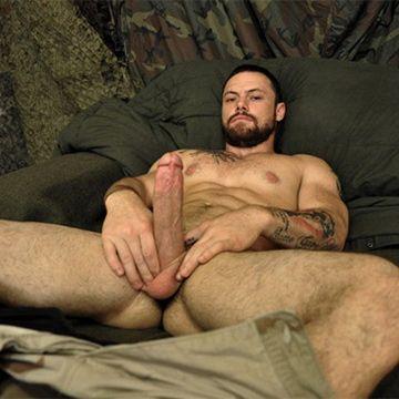 Hung Bearded Sergeant Miles Shoots A Massive Load | Daily Dudes @ Dude Dump