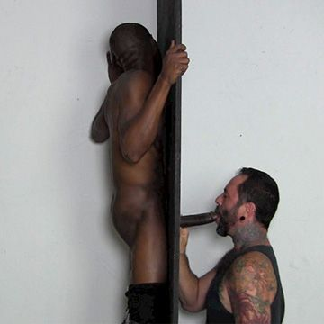 Hung Black Stud at Glory Hole | Daily Dudes @ Dude Dump