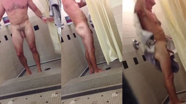 Hung dad caught drying off at gym´s showers | Daily Dudes @ Dude Dump