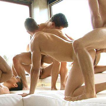 Hungarian Bareback Orgy | Daily Dudes @ Dude Dump