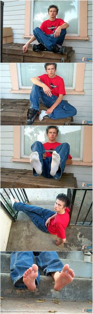 Ian Madrox Feet in Dirty Socks | Daily Dudes @ Dude Dump