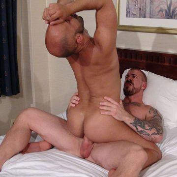 Igor Lukas rides a massive bareback cock | Daily Dudes @ Dude Dump