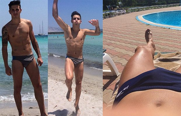 Italian footballer with a big bulge | Daily Dudes @ Dude Dump