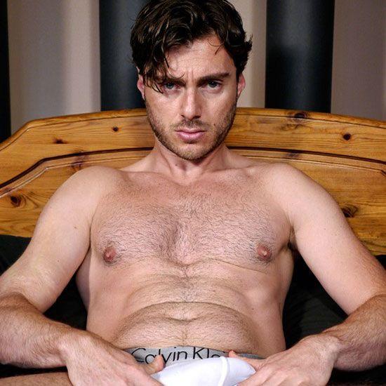 Italian stud strokes his uncut cock | Daily Dudes @ Dude Dump