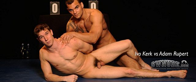 Ivo Kerk and Adam Rupert Oil Up and Wrestle Nude   Daily Dudes @ Dude Dump