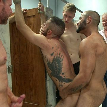 Janitor Gang Banged in Toilet | Daily Dudes @ Dude Dump