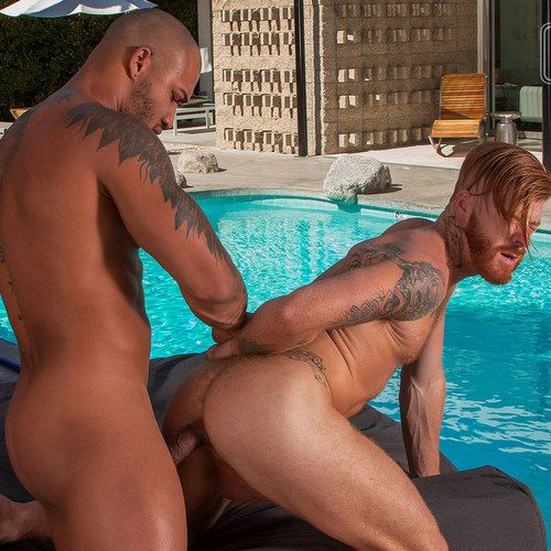 Jason Vario bangs Bennett Anthony outdoor | Daily Dudes @ Dude Dump