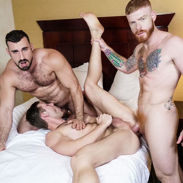 Jaxton and Bennett fuck Jacob | Daily Dudes @ Dude Dump