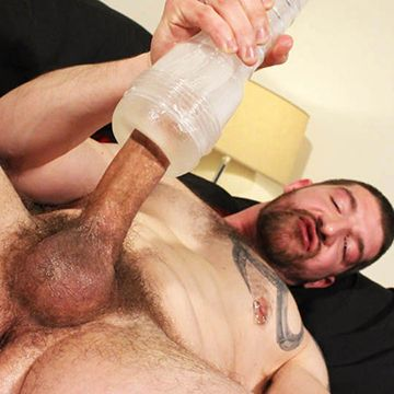 Jeff Stronger Gets Horny With A Fleshjack! | Daily Dudes @ Dude Dump