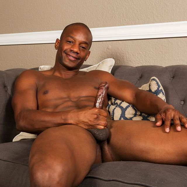 Jermaine strokes his black cock | Daily Dudes @ Dude Dump