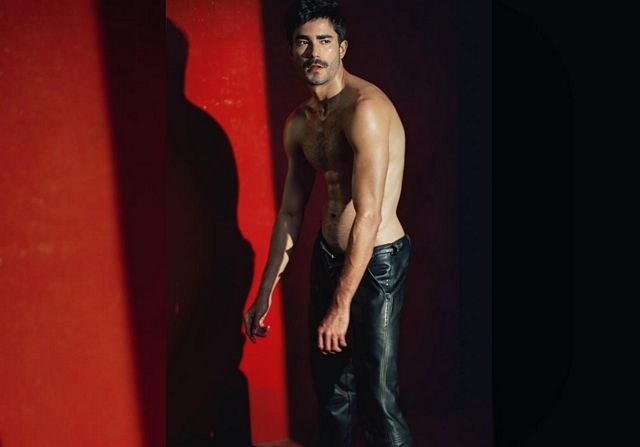 Joao Lima Wears Leather Pant | Daily Dudes @ Dude Dump