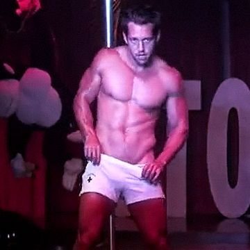 Johnny Castle stripping at StockBar | Daily Dudes @ Dude Dump