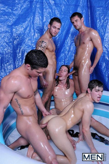 Johnny Rapid & Kip Johnson fucked hard by 3 tops | Daily Dudes @ Dude Dump
